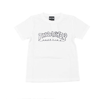 Thrasher Kids Mag Outline S/S Tee White