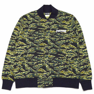 Thrasher Camo Sweat Snap Jacket Camo Green