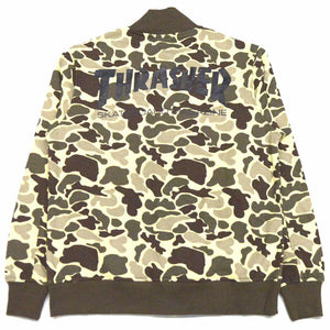 Thrasher Camo Sweat Snap Jacket Camo Sand