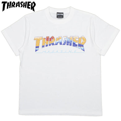 Thrasher Japan Kids Fuji Tee white Sun