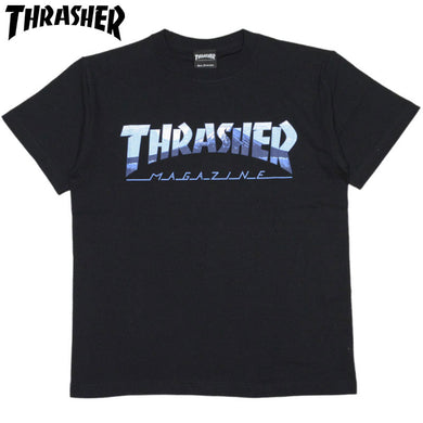 Thrasher Japan Kids Fuji Tee Black Sky