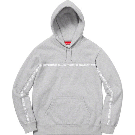 Supreme Text Stripe Hooded Sweatshirt