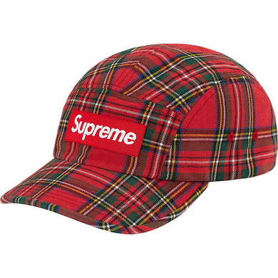 Supreme Washed Chino Twill Camp Cap (FW20) Red Tartan