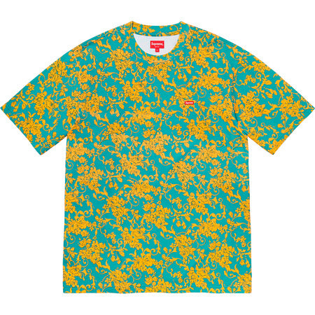 Supreme Small Box Tee (SS20) Teal Floral