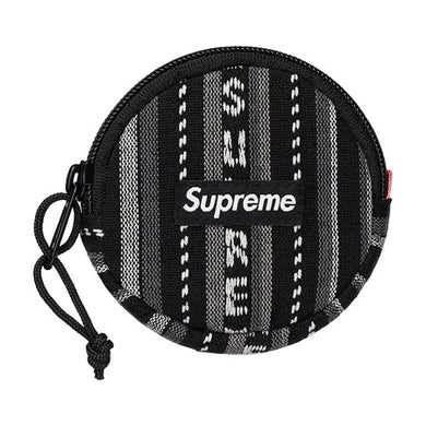 Supreme Woven Stripe Coin Pouch Black