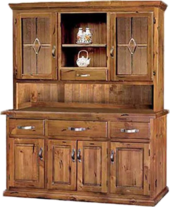 Brunswick Buffet and Hutch with Leadlight, Buffet and Hutch, Brunswick, Adelaide Furniture and Electrical