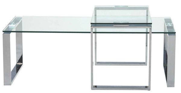 Katrine Clear 2 Pce Coffee Table Set, Coffee Table, Katrine, Adelaide Furniture and Electrical