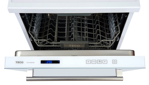 15 place setting white glass door dishwasher, DishWasher, Teco, Adelaide Furniture and Electrical