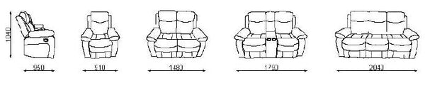 Nikson Recliner Lounge Suite