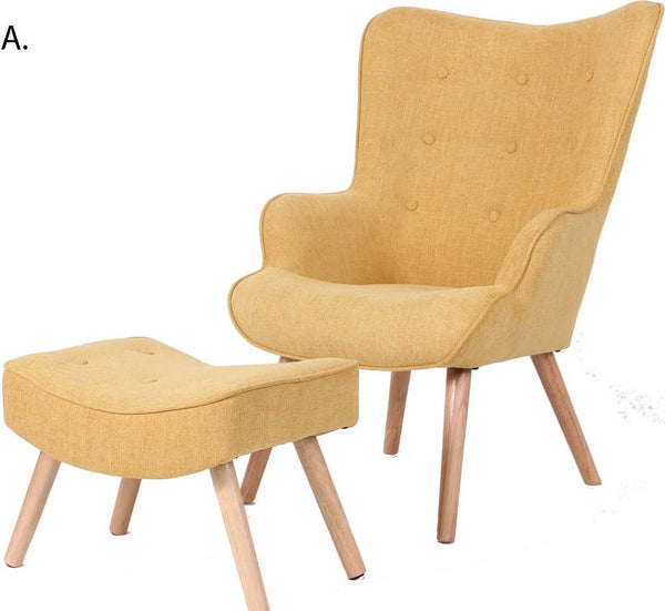 Jacob Occasional Chair and Ottoman