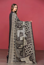 Linen Black Printed 3PC - Stitched Suit