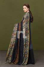 Linen Shawl Blue Printed 2PC - Stitched Suit