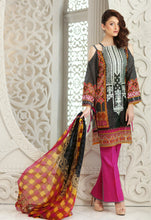 Stitched Suit - 3 PC 100% Pure Silk Chiffon