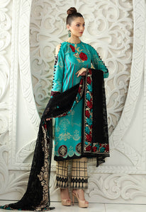 Stitched Suit - 3 PC Premium Embroidered Pure Silk Chiffon