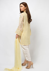 3PC Lawn Suit - Yellow