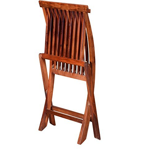 mamta decoration sheesham wood natural finish comfort folding chair