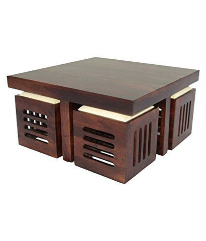 Mamta Decoration Sheesham Wood Center Table For Living Room | Coffee Table  |For Home U0026