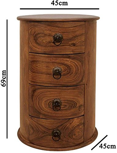Mamta Decoration Sheesham Wood Sideboard Chest Of Drawers Storage Cabinet  For Living Room | With 4 ...