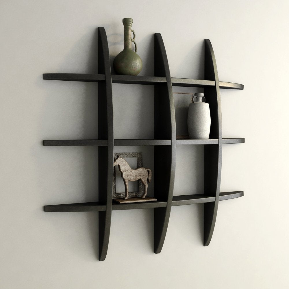 Mamta Decoration Wall Shelf Rack Globe Shape Storage Wall Shelves Floating Wall  Shelf   Black MTP ...