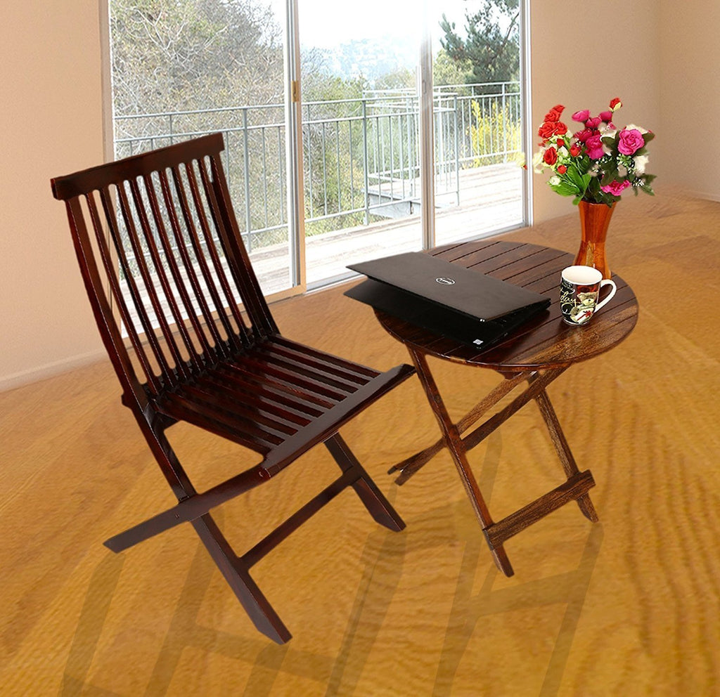 dining chairs brown. Mamta Decoration Rosewood/Sheesham Wood Dining Set Buck Folding Chairs And Round Table For Living Brown