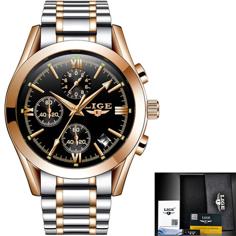 Luxury Sport Watch Men's Full Steel