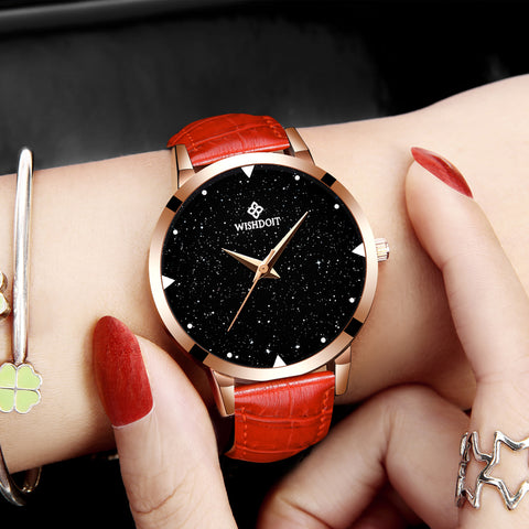 Women Watches Fashion Leather Quartz