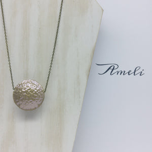 Solo Bubble Necklace in Metallic Effect Cappucino Gold - Ameli Jewellery Studio