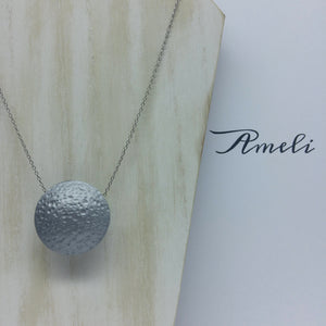 Solo Bubble Necklace in Metallic Effect Silver - Ameli Jewellery Studio