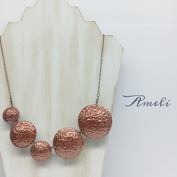 Bubble Necklace in Metallic Effect Bronze - Ameli Jewellery Studio