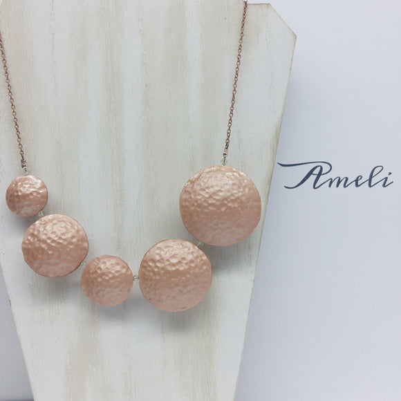 Bubble Necklace in Metallic Effect Copper - Ameli Jewellery Studio