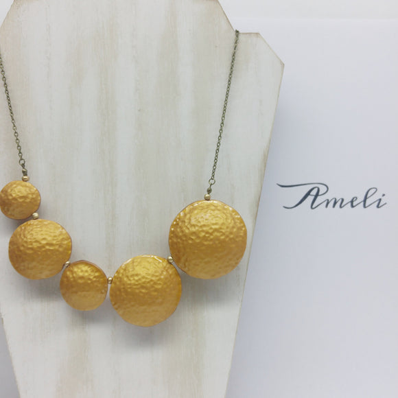 Bubble Necklace in Metallic Effect 18K Gold - Ameli Jewellery Studio