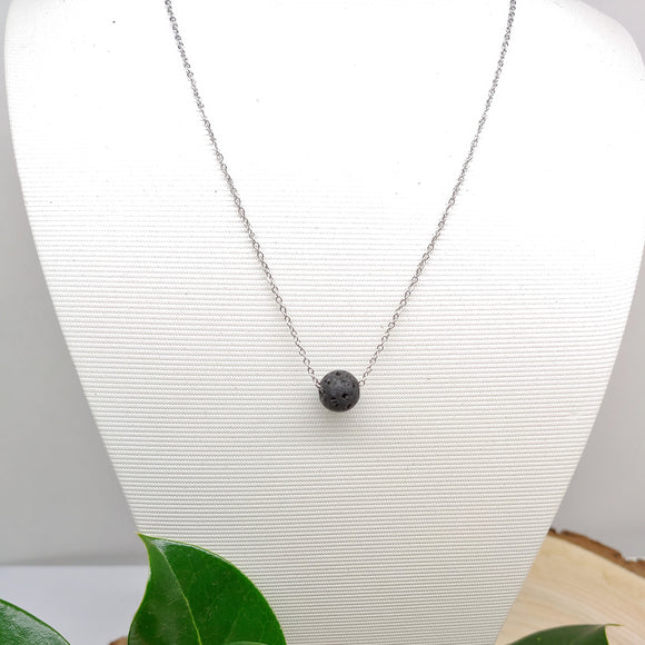 Stainless Steel Lava Rock Diffuser  Bijou Necklace - Ameli Jewellery Studio