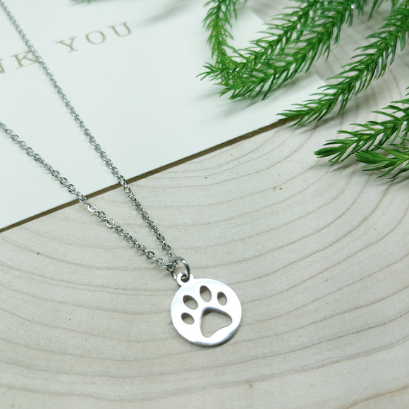 Animal Paw Stainless Steel Necklace - Ameli Jewellery Studio