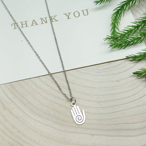 Hamsa Hand Stainless Steel Necklace - Ameli Jewellery Studio