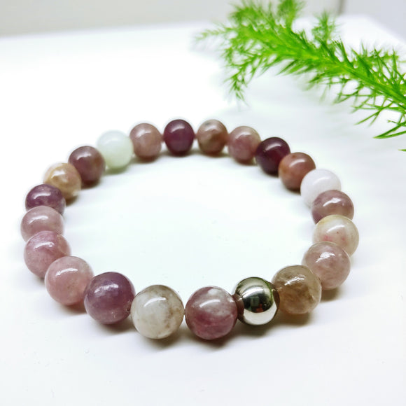 Pastel Gemstone Colours Affirmation Bracelet - Ameli Jewellery Studio