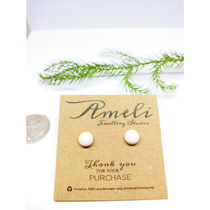 Gemstone Round Earring Studs - Multiple Crystals available
