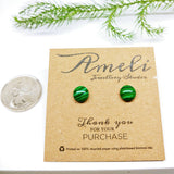 Gemstone Round Studs - Multiple Crystals available (stainless steel or plastic post) - Ameli Jewellery Studio