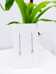 Tiny Star Stainless Steel Dangle Pull Through Chain (Threader Earrings) - Ameli Jewellery Studio