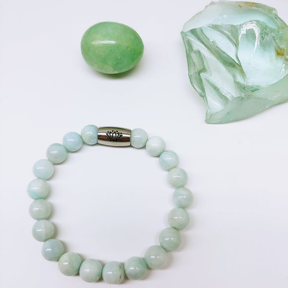 Aquamarine Affirmation Bracelet - Calm - Ameli Jewellery Studio