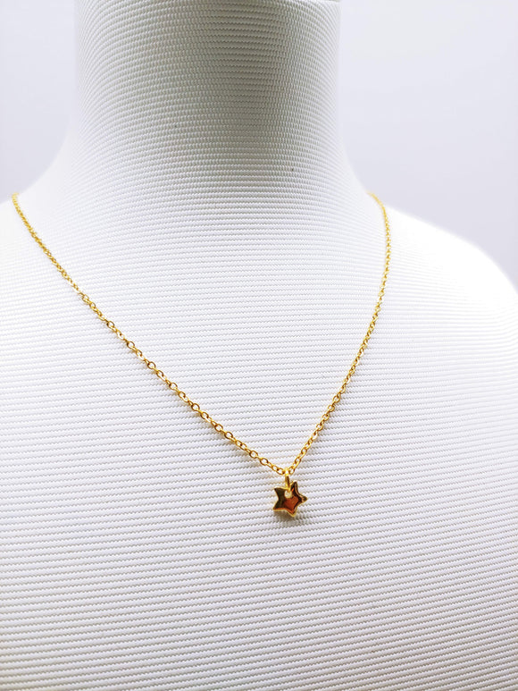 Tiny Golden Star necklace on Stainless Steel - Ameli Jewellery Studio