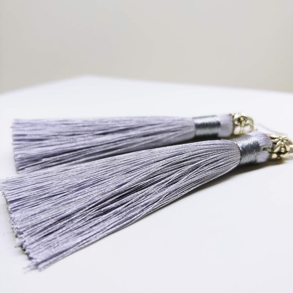 Tassel Dangly Earrings in Silver - Ameli Jewellery Studio