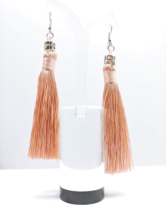 Tassel Dangly Earrings in Champagne - Ameli Jewellery Studio