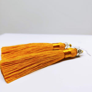 Tassel Dangly Earrings in Golden - Ameli Jewellery Studio