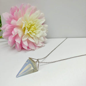 Opalite Pendulum Crystal Necklace - Ameli Jewellery Studio