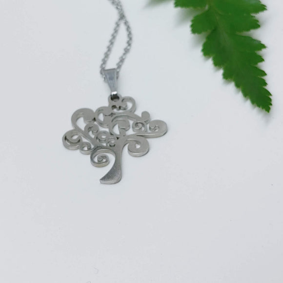 Tree of Life Pendant on 16 inch Stainless Steel Necklace