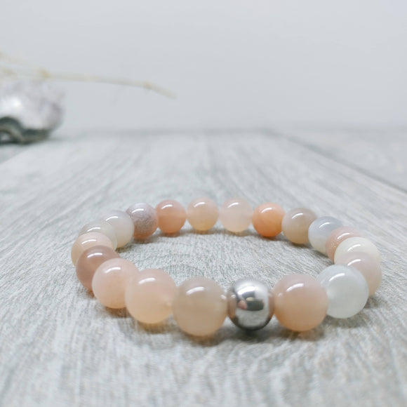 Moonstone (Tawny Colours) Affirmation Bracelet - Fertility, [Product_type] - Ameli Jewellery Studio