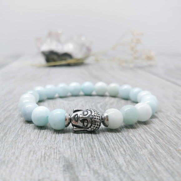 Aquamarine Affirmation Bracelet - Calm, [Product_type] - Ameli Jewellery Studio