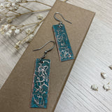 Copper Patina (Vertigris) Dangle Drop Earrings