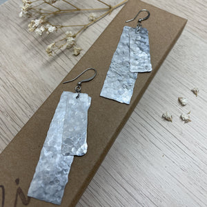 Hammer Textured Aluminium Dangle Drop Earrings