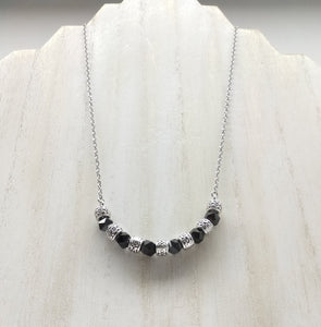 Garnet Half Moon Necklace - Ameli Jewellery Studio